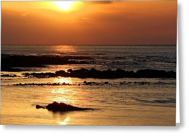 Waikoloa Sunset Greeting Card