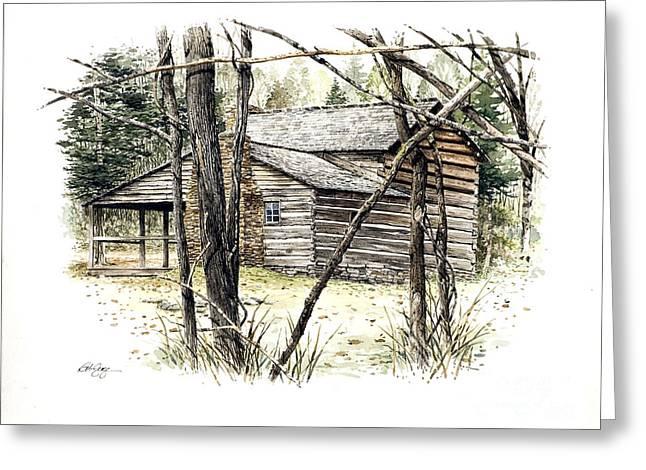 Walker Sisters Farm House Greeting Card by Bob  George