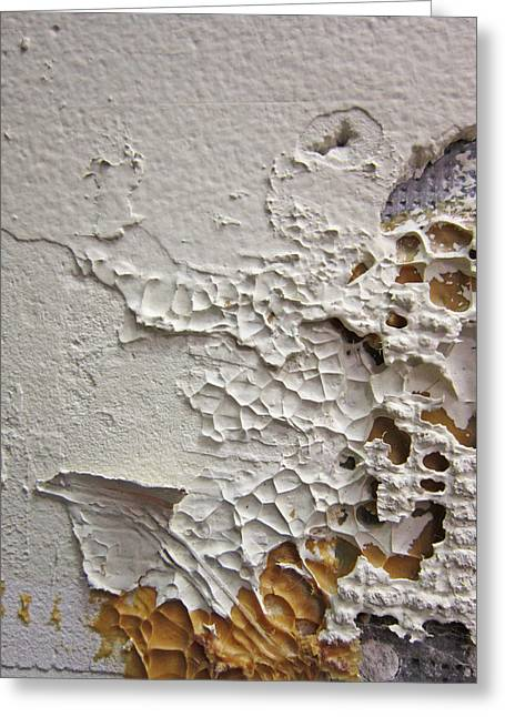 Wall Abstract Greeting Card by Mary Bedy
