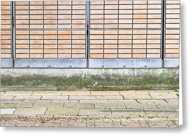 Wall Background Greeting Card by Tom Gowanlock
