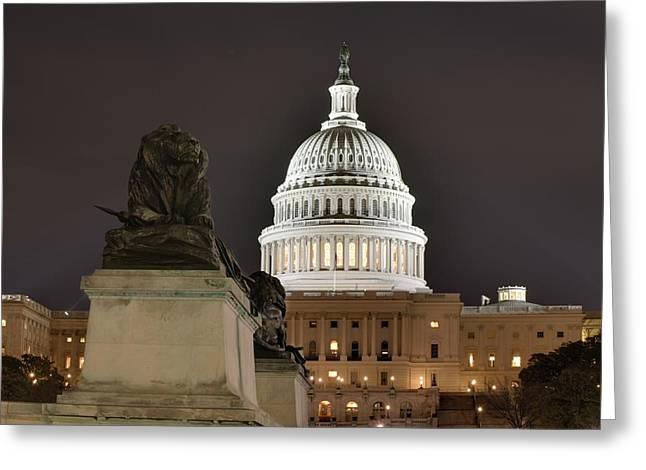 Washington Dc - Us Capitol - 01131 Greeting Card