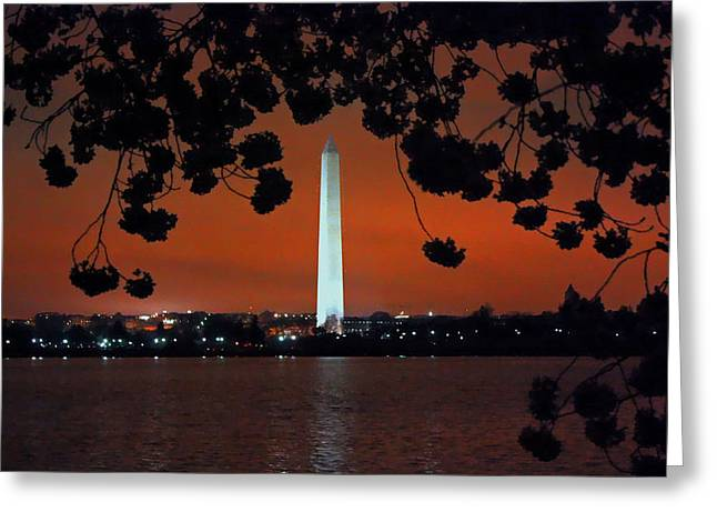 Greeting Card featuring the photograph Washington Monument by Suzanne Stout