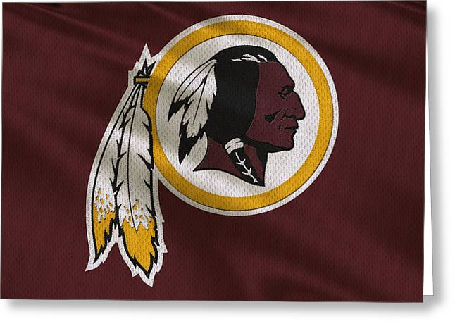 Washington Redskins Uniform Greeting Card