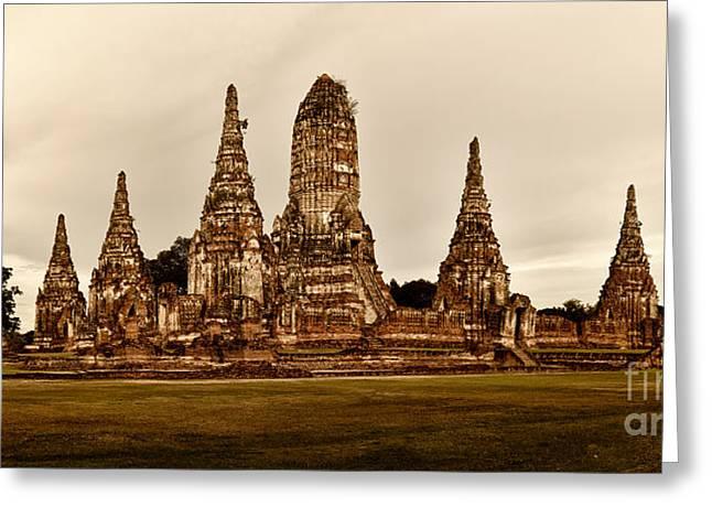 Wat Chaiwatthanaram Ayutthaya  Thailand Greeting Card by Fototrav Print