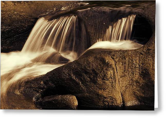 Water Flow Greeting Card by Les Cunliffe