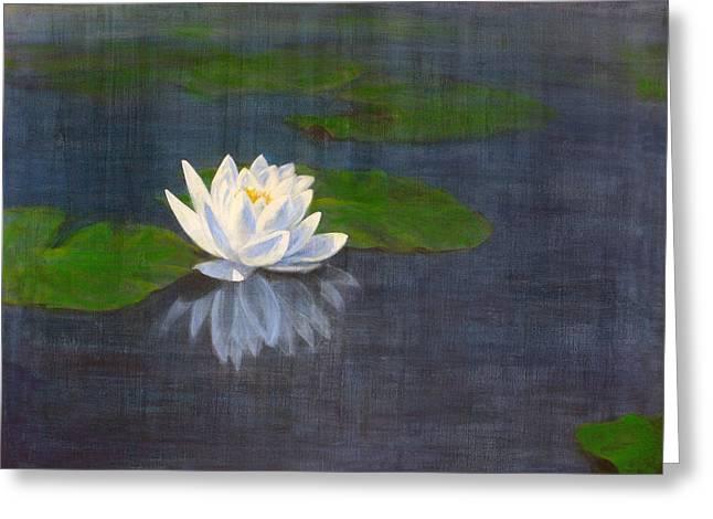 Water Lily Greeting Card by Josh Hertzenberg