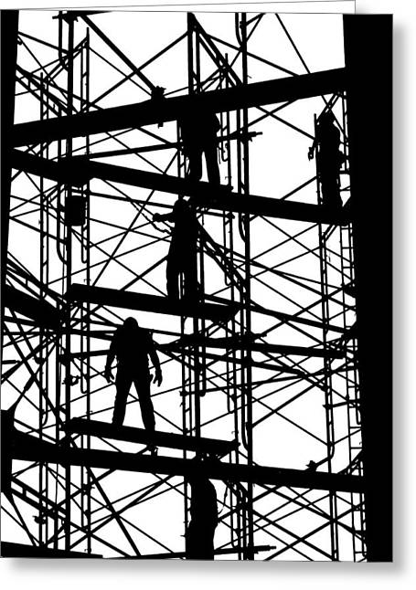 Water Tower Silhouette  Greeting Card by Allen Beatty
