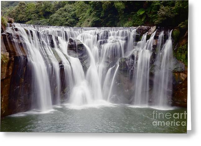 Waterfall Greeting Card by Fototrav Print