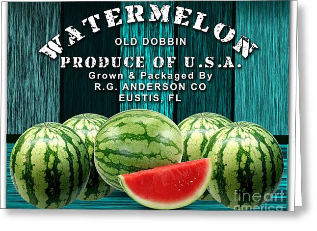 Watermelon Farm Greeting Card by Marvin Blaine