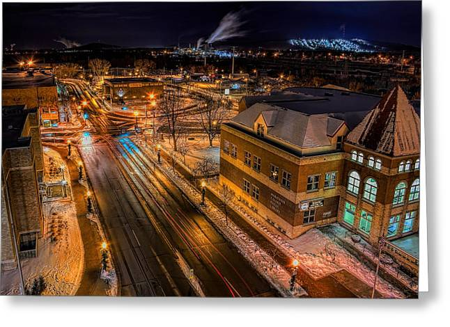 Wausau After Dark Greeting Card