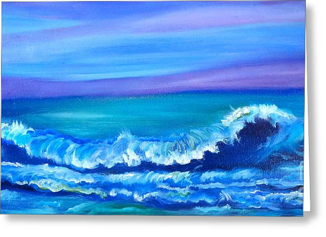Wave Greeting Card by Jenny Lee