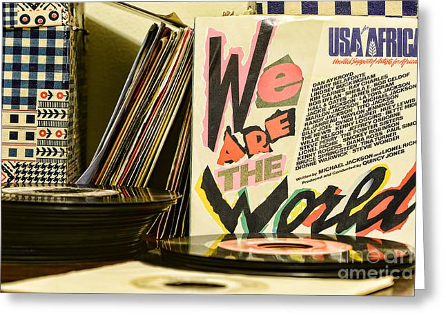 We Are The World Greeting Card by Paul Ward