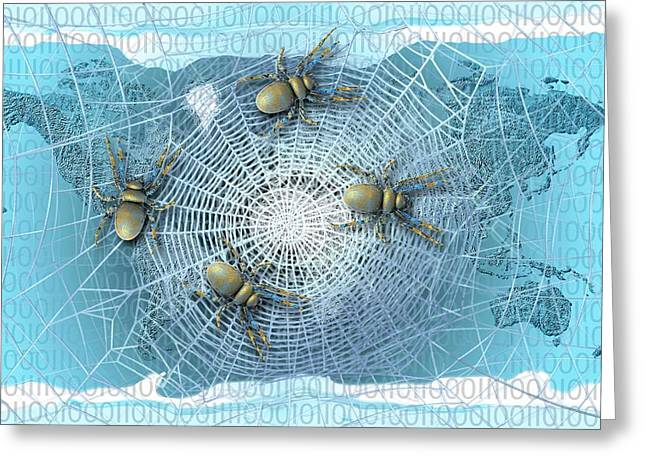 Web Crawlers Greeting Card by Carol & Mike Werner