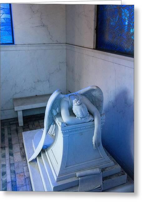 Weeping Angel Iv Greeting Card by Chris Moore