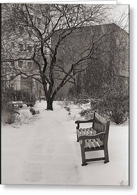 West Village Snow  Greeting Card by Julie VanDore