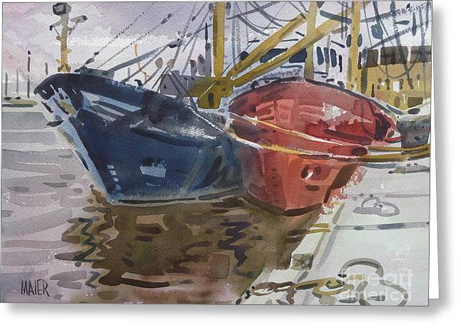 Wexford Fishing Boats Greeting Card by Donald Maier