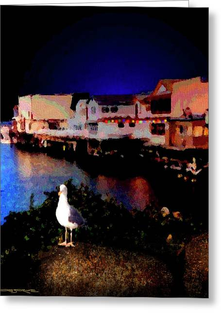 Wharf Gull Greeting Card