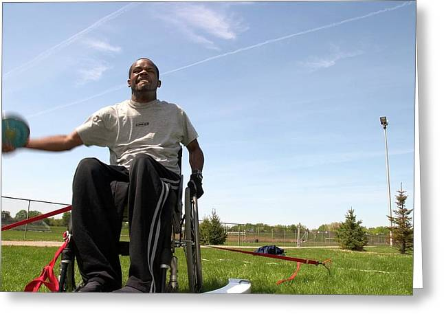 Wheelchair Athletics Greeting Card by Jim West