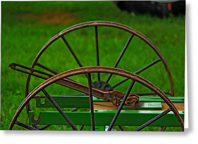 Wheels Of Time Greeting Card by Rowana Ray