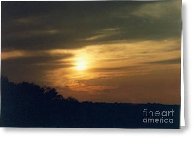 When The Clouds Roll In Greeting Card by Cynthia Massey