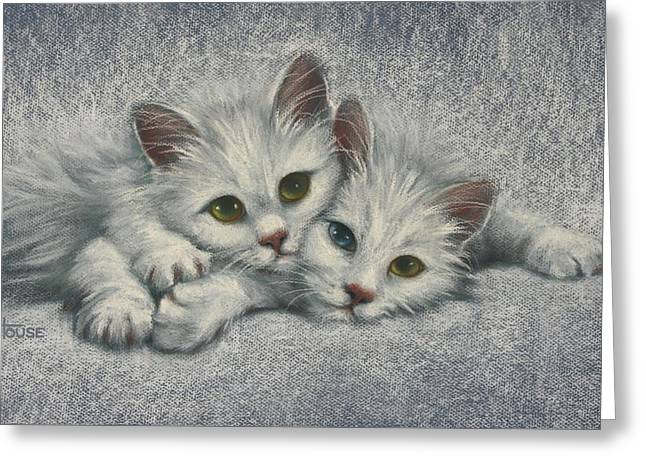 Greeting Card featuring the painting White On White by Cynthia House