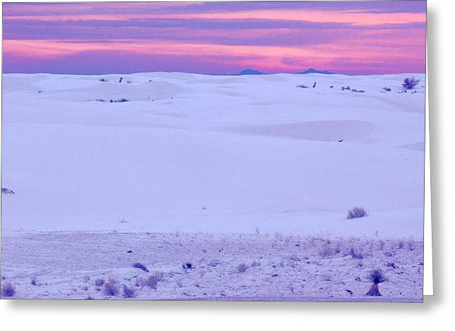 Greeting Card featuring the photograph White Sands New Mexico by Bob Pardue