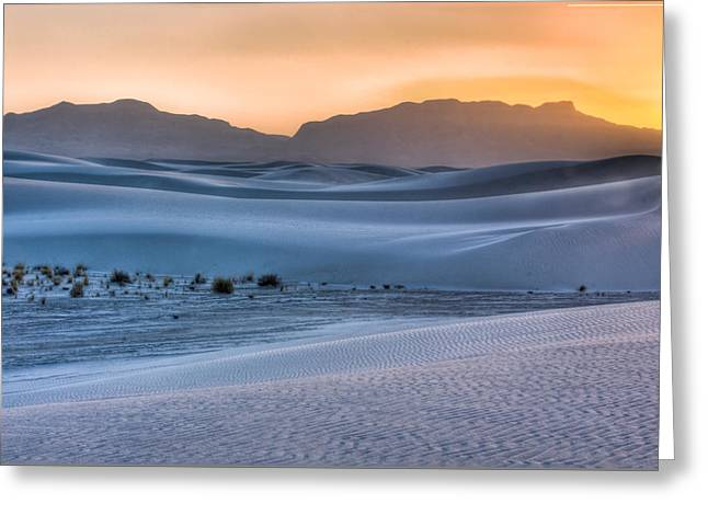 White Sands Sunset Greeting Card