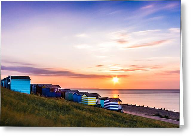 Whitstable Beach Huts. Greeting Card by Ian Hufton