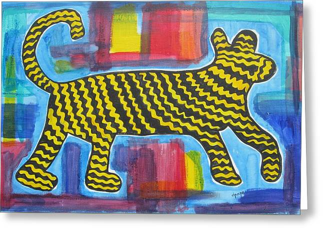 Wild Cat Greeting Card by Diane Pape