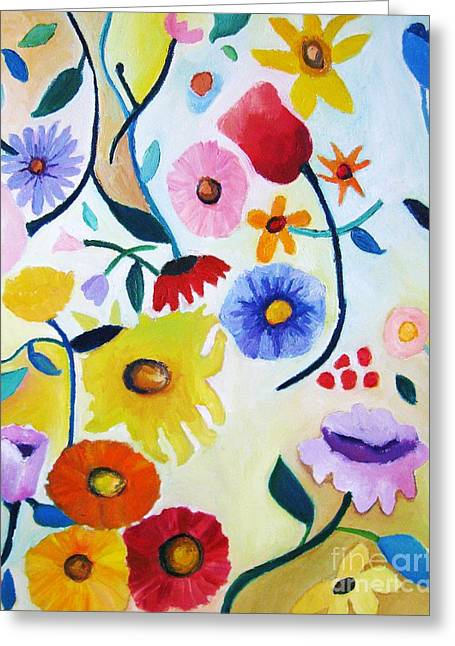 Wildflowers Greeting Card by Venus