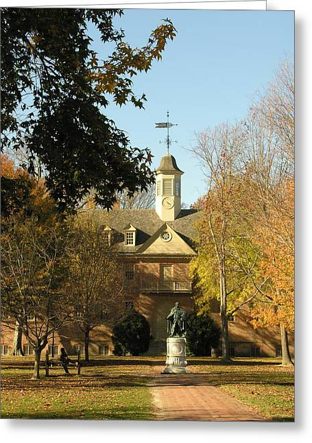 William And Mary College Greeting Card
