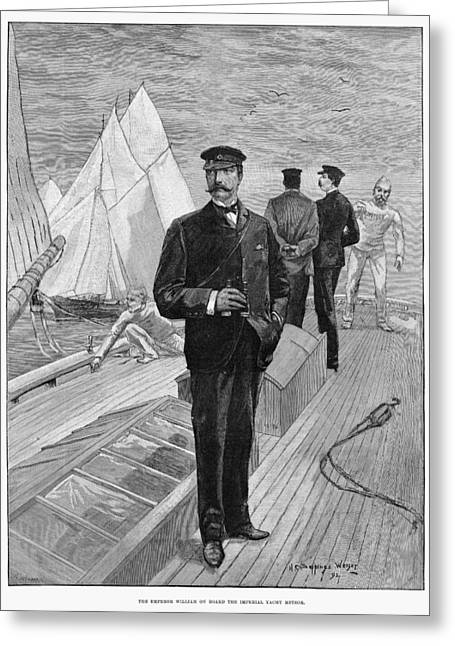 William II Of Germany (1859-1941) Greeting Card by Granger