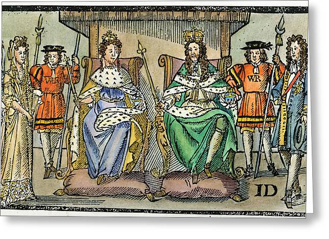 William IIi And Queen Mary Greeting Card by Granger