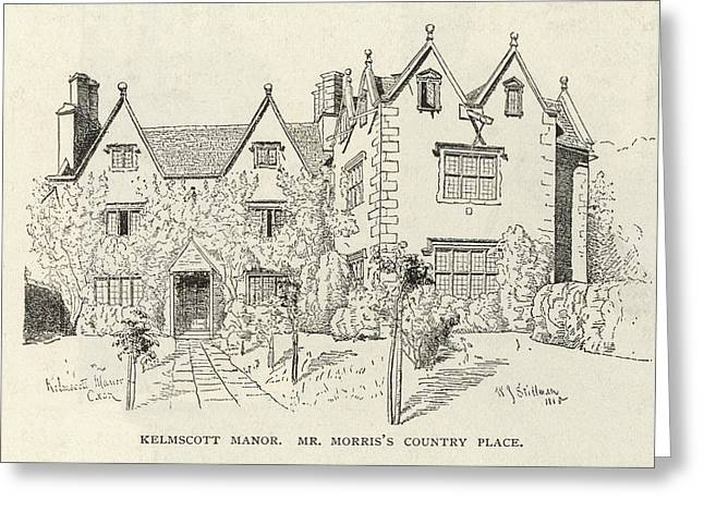 William Morris  English Writer's Home Greeting Card by Mary Evans Picture Library