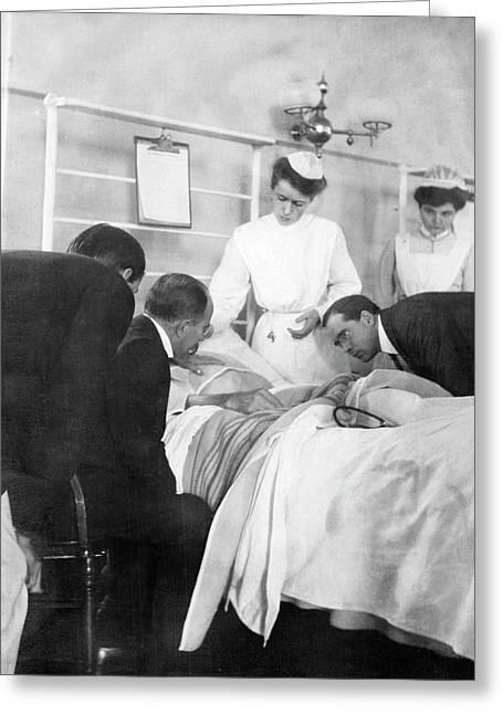 William Osler Attending A Patient Greeting Card