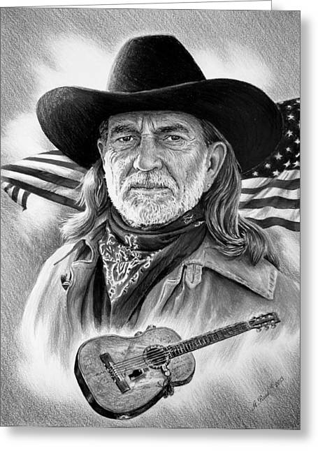 Willie Nelson American Legend Greeting Card