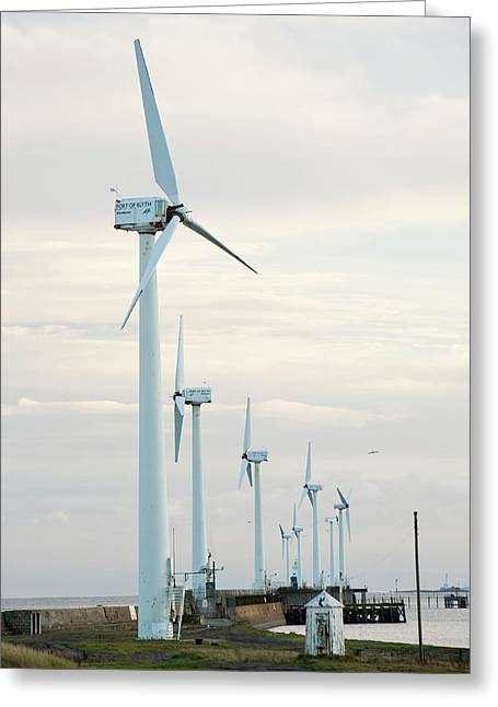 Wind Turbines Greeting Card by Ashley Cooper