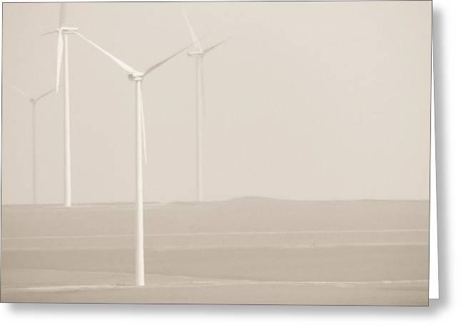 Windmills Greeting Card by Gabriela Insuratelu