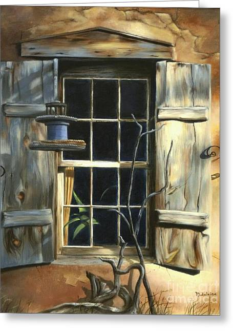 Window Greeting Card by Madeleine Holzberg