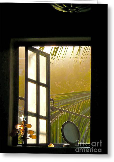 Window To The Soul Greeting Card by Amy Fearn