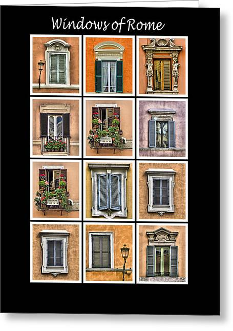 Windows Of Rome Greeting Card