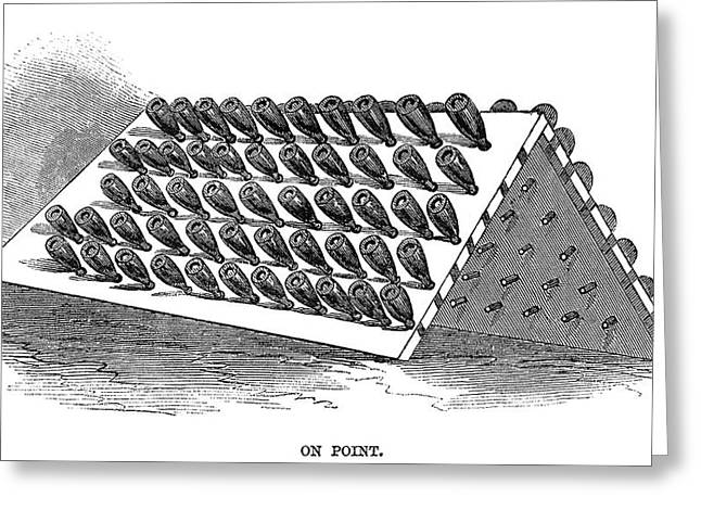 Winemaking Storage, 1866 Greeting Card by Granger