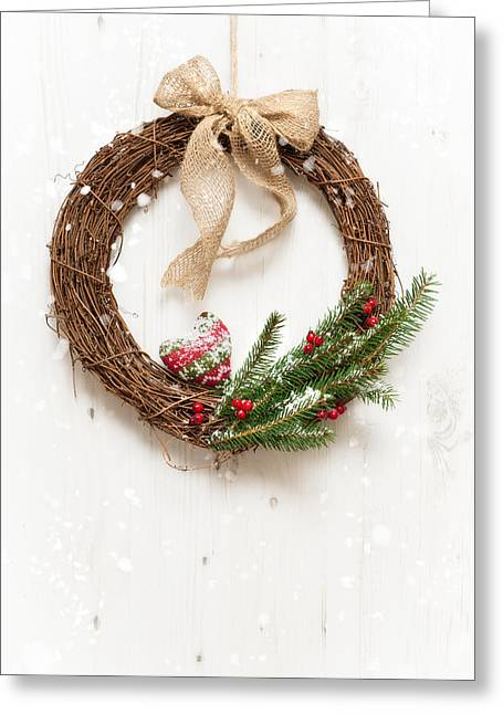 Winter Garland Greeting Card