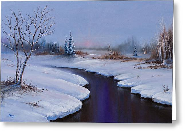 Winter Stillness Greeting Card by C Steele