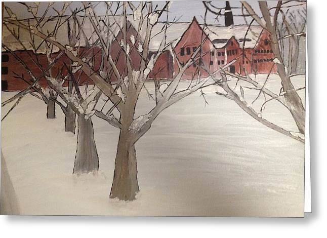 Winter University Greeting Card by Paula Brown