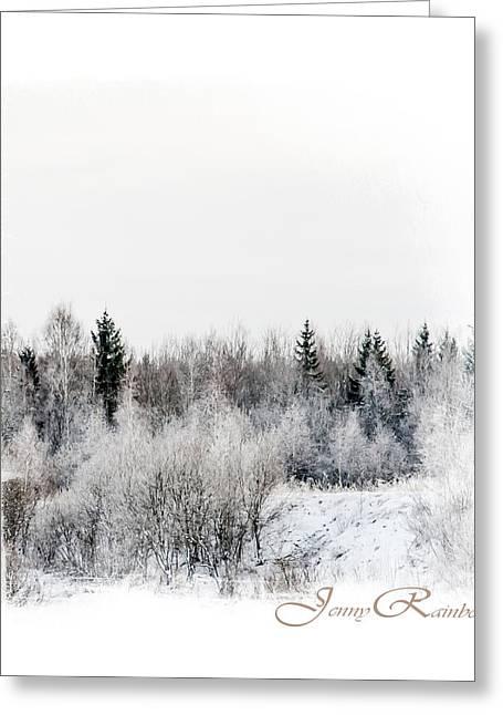 Winter Wonderland. Elegant Knickknacks From Jennyrainbow Greeting Card by Jenny Rainbow