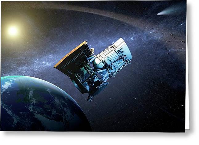 Wise Space Telescope Greeting Card