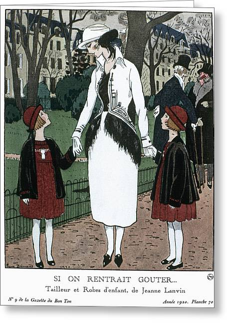 Women's Fashion, 1920 Greeting Card by Granger
