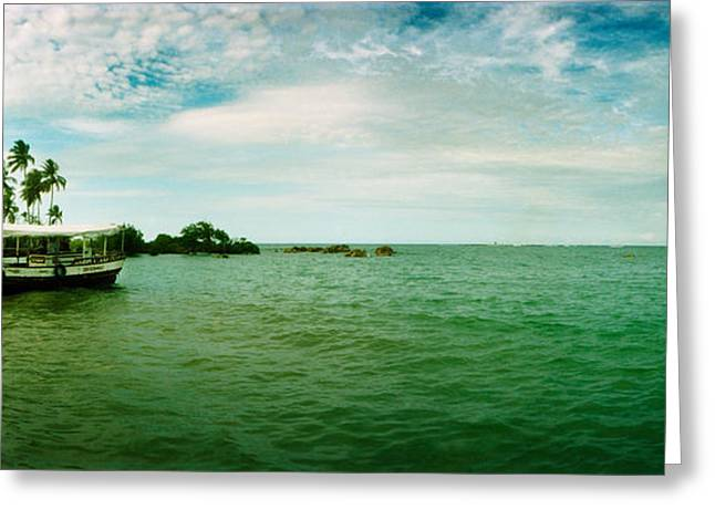 Wooden Boat Moored On The Beach, Morro Greeting Card