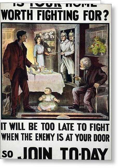 World War I Poster, 1915 Greeting Card